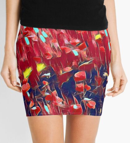 Magical poppy field Mini Skirt