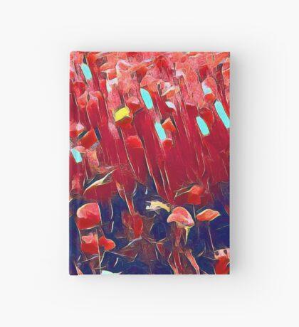 Magical poppy field Hardcover Journal