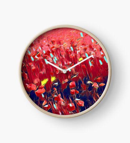 Magical poppy field Clock