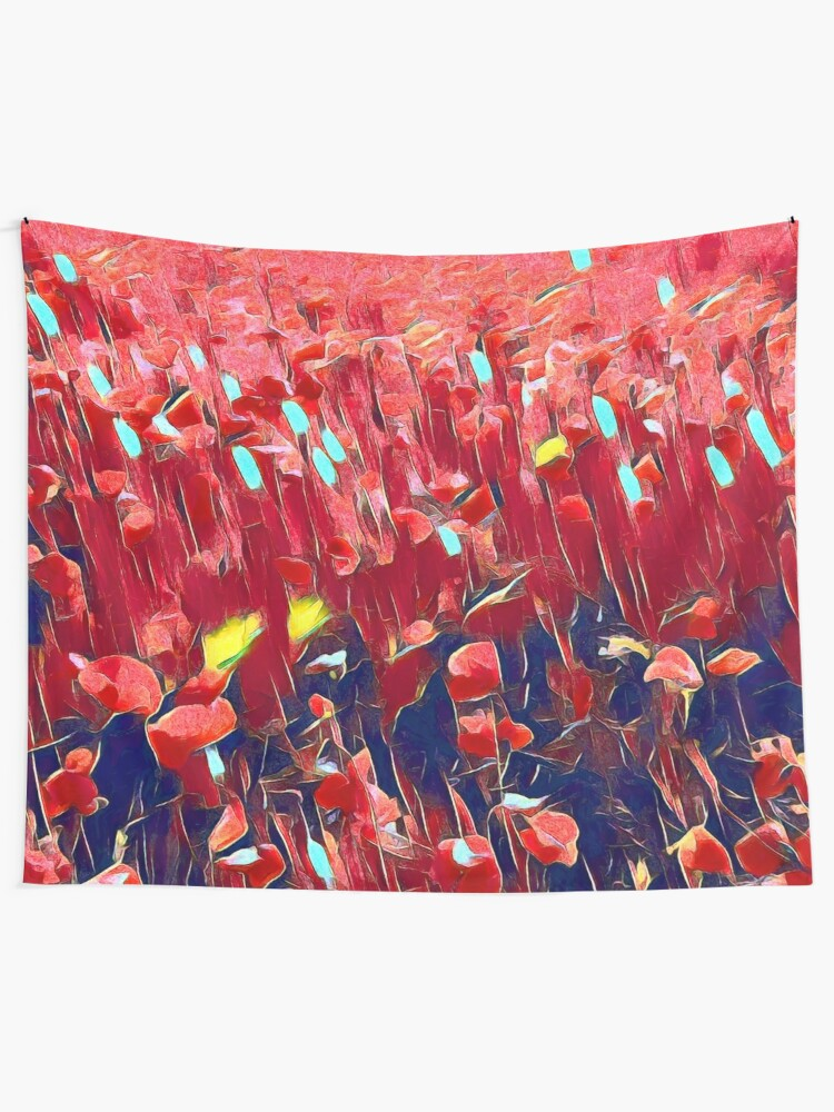 Alternate view of Magical poppy field Wall Tapestry