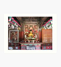 The Temple Budda Art Print
