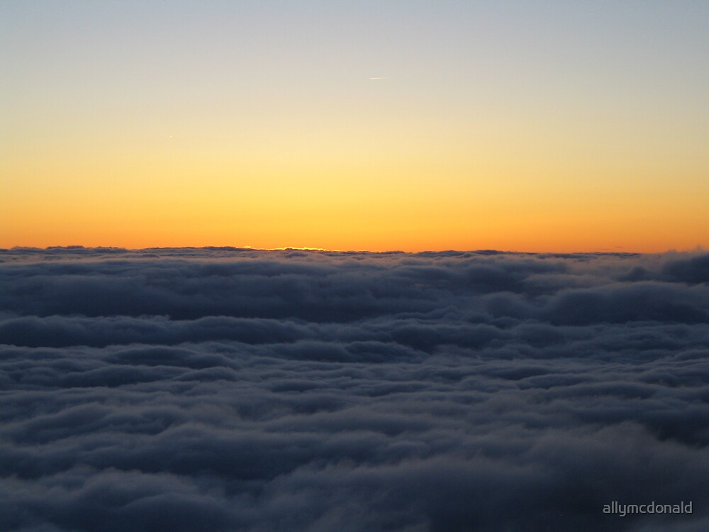 Dusk from Mont Blanc by allymcdonald