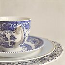 China cup and plates by Lyn  Randle