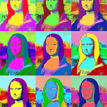 Monalisa Colorful T-Shirt by CascudoGifts