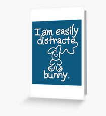 Distracted bunny Greeting Card