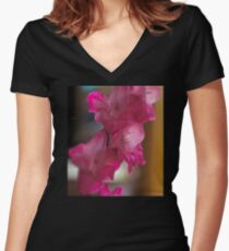 For you My Darling ! Women's Fitted V-Neck T-Shirt
