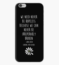 We need never be hopeless iPhone Case