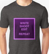 Write shoot edit repeat // Filmmaking T-Shirt