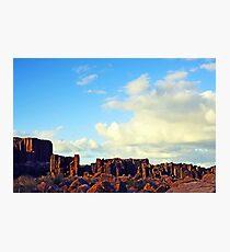 Sun-kissed Stone Pillars Photographic Print
