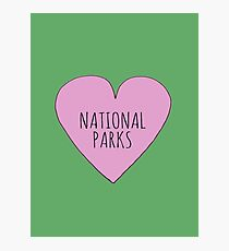 I Love National Parks Photographic Print