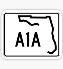 Florida State Road A1A Sticker