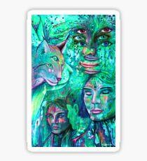 begegnungen spiegeln Sticker