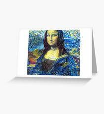 Mona Lisa Drawn by Vincent Van Gogh Greeting Card