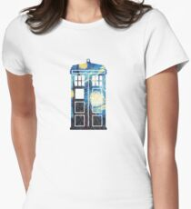The Doctor's Starry Night Womens Fitted T-Shirt