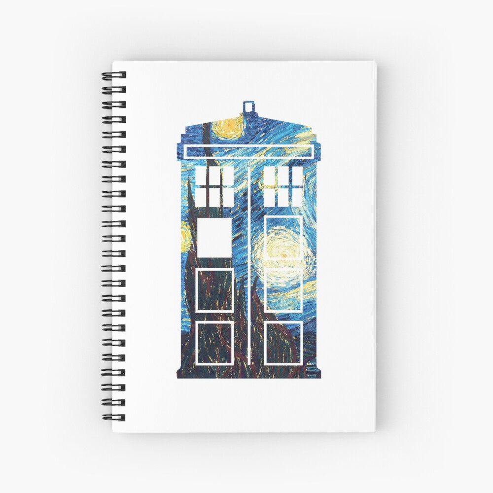 The Doctor's Starry Night Spiral Notebook