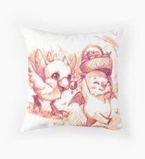 Chocobo & Moguri Throw Pillow