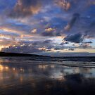Sunset at Ahipara, Ninety Mile Beach, New Zealand by Victoria Ashman