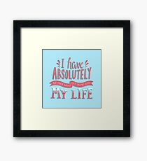 What am I doing with my life? Framed Print