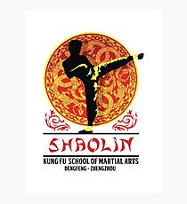 Shaolin Kung Fu School of Martial Arts Photographic Print