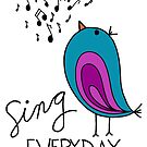 Sing EVERYDAY {turquoise & pink} by designing31