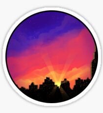Cityscape Sunset Sticker