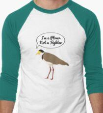 I'm a Plover Not a Fighter Men's Baseball ¾ T-Shirt
