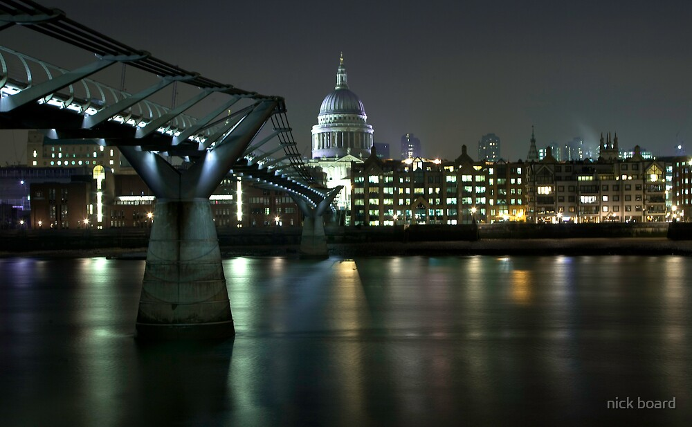 Millennium Bridge St Pauls by nick board