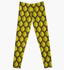 Stylized leaf pattern. Leggings