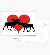 Moose Couple Postcards