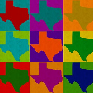 Texas Pop Art Graphic Design Love State TX by joannejgg