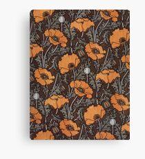 Art Nouveau Poppy Canvas Print