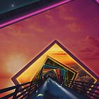 The Bridge of a Thousand Colors, a Beautiful Rainbow Fractalscape by jaya-prime