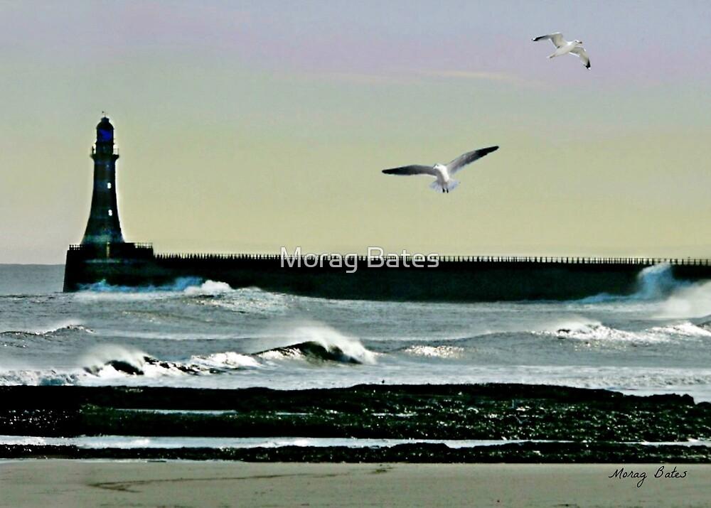Roker Pier, Sunderland. by Morag Bates