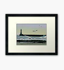 Roker Pier, Sunderland. Framed Print