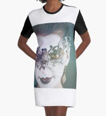 Gothic Bride Graphic T-Shirt Dress
