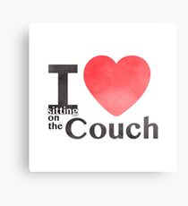 I Heart Sitting On The Couch Canvas Print