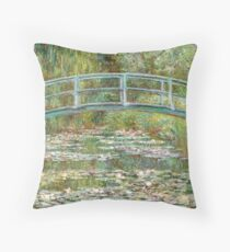 Monet, Bridge over water Lilies  Throw Pillow