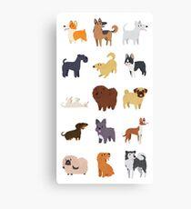 Dog Breeds Pattern Canvas Print