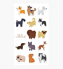 Dog Breeds Pattern Photographic Print