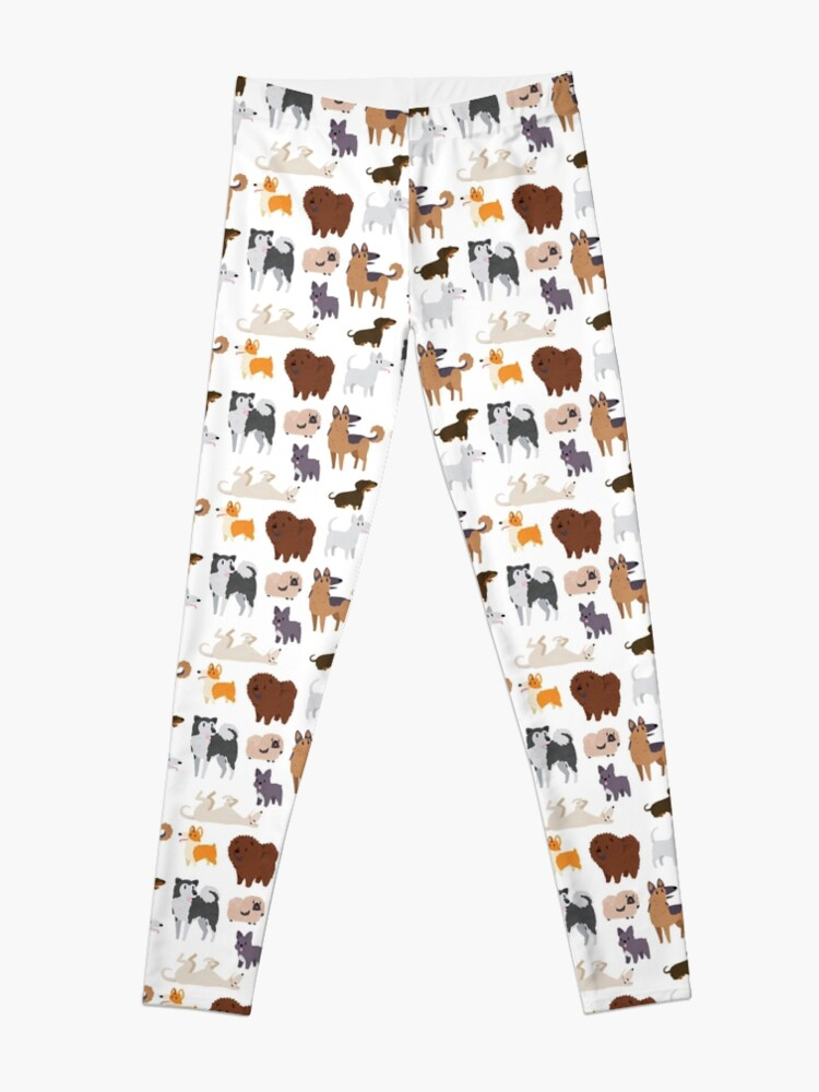 Alternate view of Dog Breeds Pattern Leggings