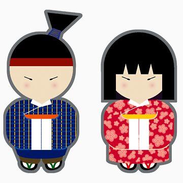 Japanese Boy & Girl by babyshingo