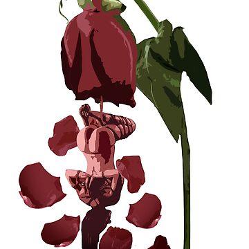 """""""Ravished Rose"""" Shibari Japanese Rope Bondage BDSM Kink by boundlesstees"""