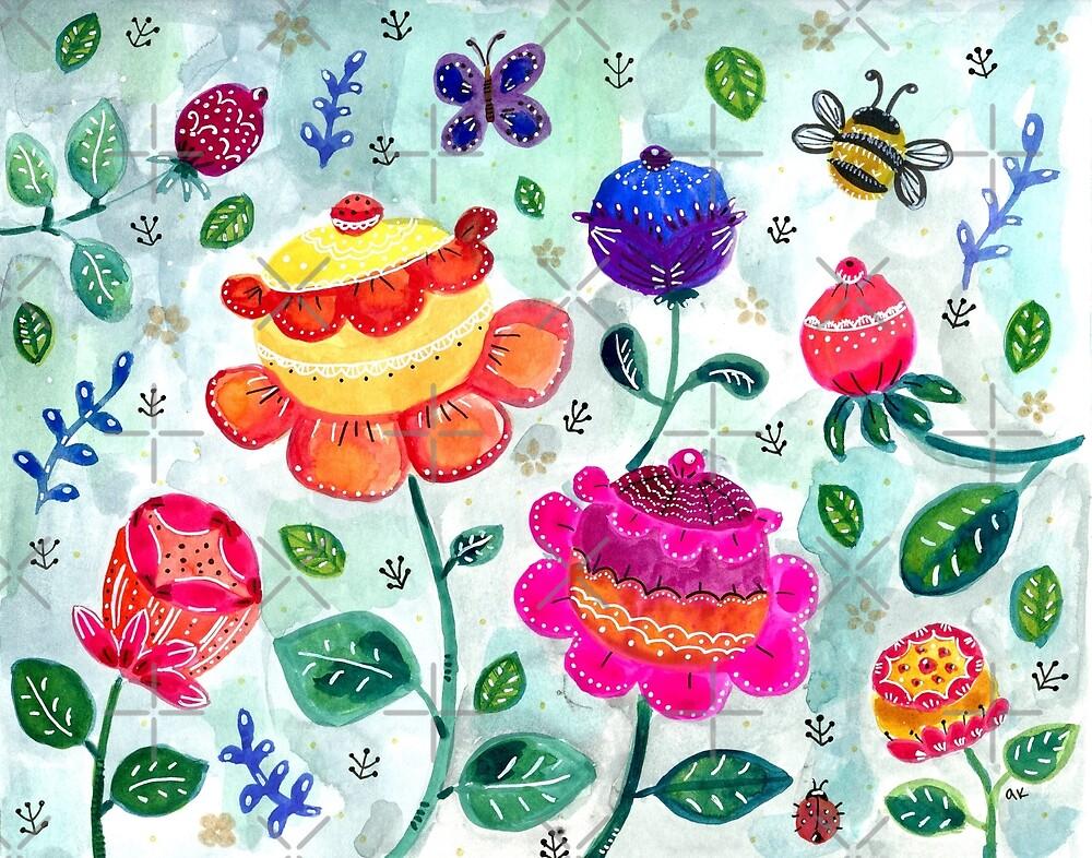 Rose Garden of Dreams by greenrainart