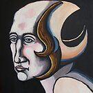 stylized female head by Ronan Crowley
