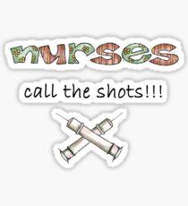 calling the shots Sticker