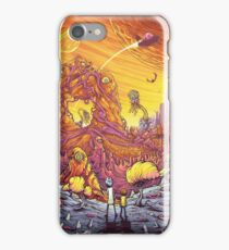 Rick and Morty alien landscape iPhone Case/Skin