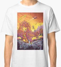 Rick and Morty alien landscape Classic T-Shirt