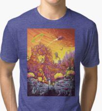 Rick and Morty alien landscape Tri-blend T-Shirt