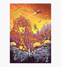 Rick and Morty alien landscape Photographic Print