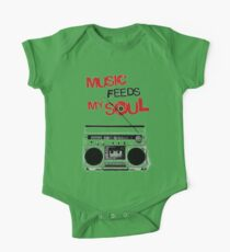 MUSIC FEED MY SOUL One Piece - Short Sleeve